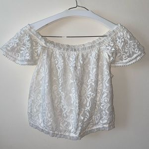 ABERCROMBIE & FITCH Lace off-shoulder top